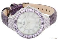 Wholesale New julius Purple Diamond Women s Ladys Vogue Quartz Watches Wrist Watch Leather Cordage Colors