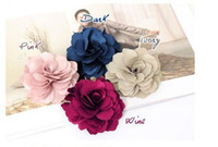 Wholesale 24pcs Camelia Flower Hair Clip Fabric Flower Brooch Hair Accessory A389