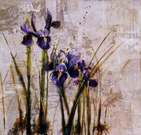 Wholesale Still Life Oil Painting on Canvas Iris In The Ground Unframed Gallery Quality Fine Art for Sale B1