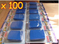 Auto Clay Bar Clay 100 100pcs Blue Auto Clay Bar Car Detailing Poly Bars Magic Retail Packaging Free shipping