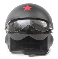 Blacks air scooters - Chinese Air Force Jet Pilot Casco Scooter Casque Motorbike Helm Open Face Motorcycle Matt Black Helmet Adults M L XL XXL