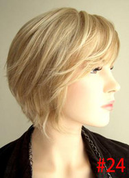 Wholesale 100 Remy Human Hair Wigs NEW Short Hair Full Lace Wig Full pale golden blonde