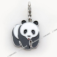clip on charms - 16pcs Panda Clip On Charm Beads Fit Chain Bracelet