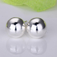 Wholesale lowest price Christmas gift Sterling Silver Fashion Earrings mm E87