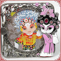 Wholesale Christmas Craft Photo Frame Chinese Culture Zinc Alloy Gift Photo Frame with Package box Free