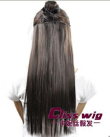 Wholesale New Sexy Long Straight Clip on Ponytail Women s Fashion Popular Party Hair Wig Extension