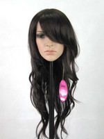 Wholesale New Sexy Long Wavy Black Fashion Women s Anime Costume Party Hair Full Wig L001
