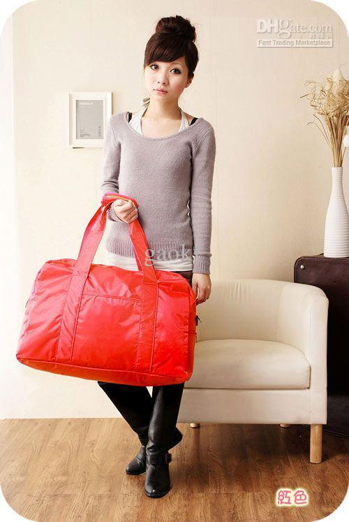 Red Discount Weekender Bag Women Big Trvaelling Bag Barrel Bag ...
