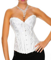 Wholesale White Flower Steel Boned Wedding Corset Tops Lingerie Classic Floral Design Bustiers XY