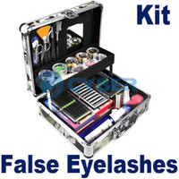 Wholesale Professional Eye Lash False Eyelashes Eyelash Kit Extension Kit Full Set Case Color