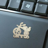 Wholesale Christmas gift Phone Anti Radiation Sticker laptop sticker K plated gold anti radiation sticker