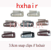 Other wig clips - 100pcs cm High Quality Wigs Snap Clips Toupee Snap Clips Hair Extension Tools