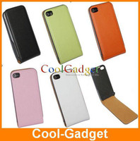 Wholesale Flip Real Genuine Leather Case Skin Pouch for iPhone S g th High Quaity IPAC184