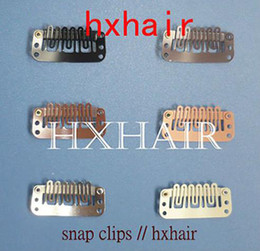 1000pcs 3.2cm High Quality Wigs Snap Clips   Toupee Snap Clips   Hair Extension Tools