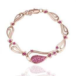 Wholesale Hot new authentic Swarovski crystal bracelet in K rose gold fine fashion jewelry Piece
