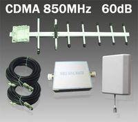 Wholesale 1 Set CDMA MHz Mobile Phone Signal Booster dB w Outdoor Yagi Indoor Panel Antenna AT P