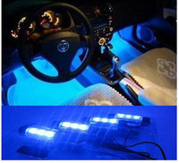 Wholesale LED ambient lighting supplies automotive interior ambient lighting within the atmosphere light blue