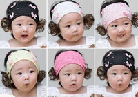 Wholesale 50pcs Hot selling Girls Hair Accessories Baby grosgrain ribbon wig jewel infant Headbands