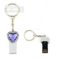 2-4GB key shape usb flash drive - Lovely Heart Shape key chain USB Flash Drive UDisk U Stick Real GB GB GB Memory Best Quality
