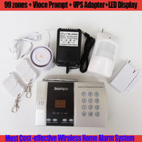 Wholesale 68 Zone Wireless PSTN Burglar Home Security Alarm Systems With Auto Dialer Voice Prompt Free Shippin