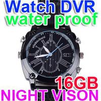 Wholesale New GB P Spy Watch Camera WaterProof Hidden Recorder DVR night vision W6000