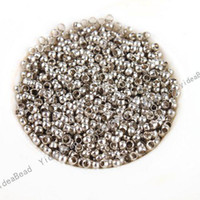 Seed   4000PCS Round Crimp Stopper Seed BEADS Earrings FINDINGS DIY Accessories Free SHIPPING 1602061