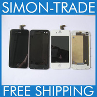 Wholesale For Iphone G Black White Front Complete LCD Display assembly Back Glass Battery Cover Button