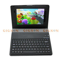 Wholesale Wireless Bluetooth Keyboard Leather Case for Galaxy Tab P1000