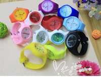 Wholesale South Korean foreign trade fashion jelly silica gel watch VCBFGV