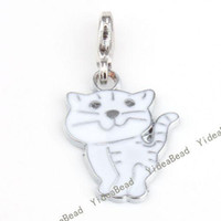 Wholesale 16pcs Bulk Enamel Cat Pendants Bead F Charms Bracelet