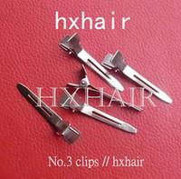 Wholesale 500pcs No Rustproof Electroplating Hair Snap Clips Hair Pins