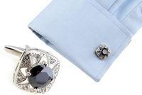 Wholesale Fashion Luxury Man Metal Steel Cufflink Cuff Links colors U Pick