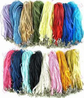 Wholesale DIY mm Mix Color Necklace Rope Ribbon Silk Organza Ribbon Necklace Cord Jewelry Finding