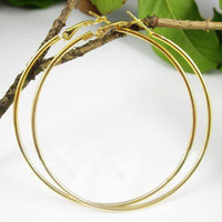 Wholesale mm pairs Big Circle Earrings Sterling Gold Plated Earring Hoops Earrings