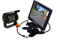 reversing camera ccd - Night vision IR LED CCD Reverse Camera quot LCD Monitor Car Rear View Kit free m video cable For Long Bus Truck
