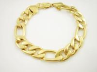 Wholesale fashion k GP men s gold plated bracelet Jewellery chains JH cm mm