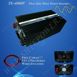 Free Shipping 4000w Pure Sine Wave Power Inverter, DC 12v to AC 220v, Power Invertor
