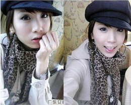 Most Popular Fashion Silk Scarves Leopard Print Scarf Women's Christmas gifts new arrival best price 20pcs lot