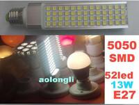 Wholesale led E27 G24 W LED SMD led Spotlight Down Light Bulb Lamp Warm White LED Horizon Down Lights AC85 V