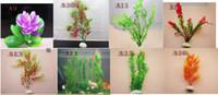 Wholesale hot Fish tank ornaments Simulation plants plastic flowers Aquarium accessories flowers FFDD