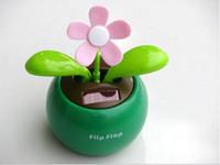 Wholesale Solar Retail Powered Swing Solar Flower Magic Cute Flip Flap Plant Swing Solar Toy
