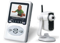 Wholesale DHL freeshiping Baby Monitors LCD Digital wireless kits W241D1 CAMERA AND RECEIVER INCLUDE
