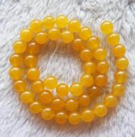 Wholesale Yellow Jade Round Beads mm inch