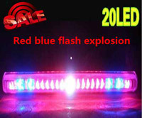 Rear audi stripe - 20 LED V DC universal car additional brake light tail light turn light red blue Flash explosion