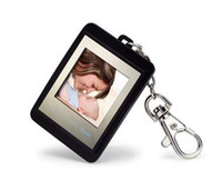 Wholesale Top quality Christmas gift inch Mini Digital photo frames electronic albums Key Ring Frame Candy Colors luxury