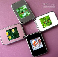 Wholesale 1 inch Mini Digital photo frames electronic albums Key Ring Frame photographic equipment XMAS gift