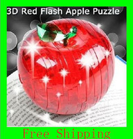 apple puzzles - 3D Jigsaw Puzzle Crystal Green Apple Shaped Airmail Mini Order