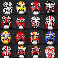 Wholesale Paper Mache Masquerade Masks Men Decorative Masks For Sale Chinese Opera Mask mix Free