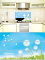 Wholesale Clearance Hearth prevent oil wall sticker heat resistant kitchen sticker aluminum foil stick