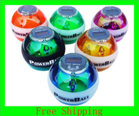 Wholesale Mix Color LCD Counter Led Lights Power Ball With Retail Package Wrist Ball Powerball
